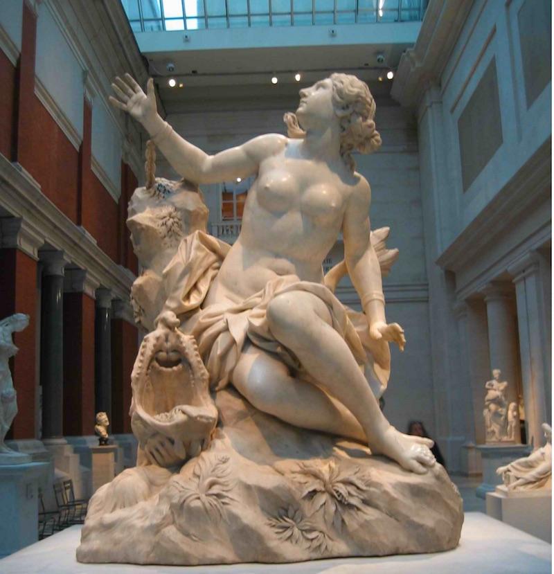 andromeda estatua